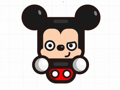 simple mickey illustration character design adobe illustrator mickey mouse disney fanart simple kirpluk