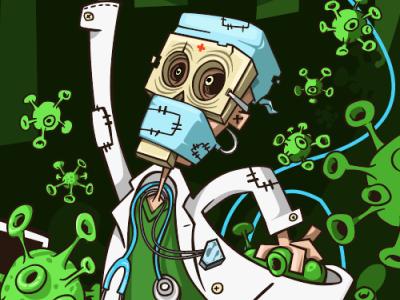 uneven fight pandemic art character cartoon kirpluk vector illustration virus healthcare covid19