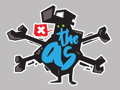 theAs sticker1 tshirt label sticker print clothing vector kirpluk design funky illustration ill branding logo graphic design