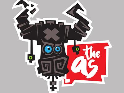theAs sticker2 label sticker clothing graphic design branding ui design funky logo illustration simple kirpluk vector