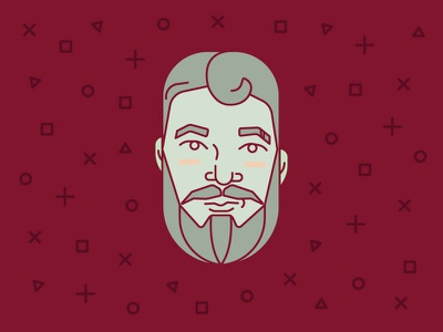 Character Study character study portrait flat line art face vector illustration geometic face study handsome character study bearded man beard vector illustration design