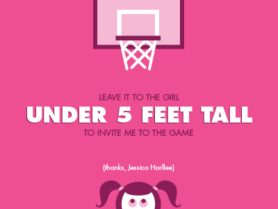 Hello, Dribbblers. pigtails thank you illustration hello pink basketball girl under 5 feet dribbble debuts
