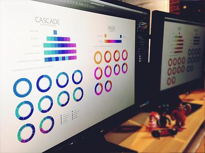 Color Exploration design workspace color exploration ui ux toys desk computer dashboard graph chart