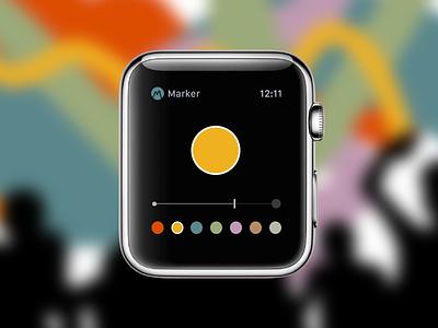 Collaborative Art Apple Watch Concept apple watch app ui ux icon mobile paint brush art design color