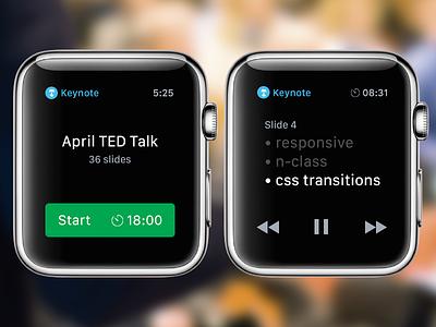 Apple Watch Keynote Concept design apple watch app ui ux icon mobile keynote slide remote interface