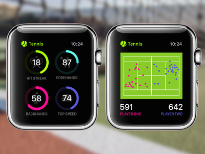 Apple Watch Tennis Pro Concept design apple watch app ui ux icon mobile infographics dashboard graph sports