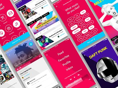 Music Mobile App icon ios web app ux player onboarding design music app mobile ui