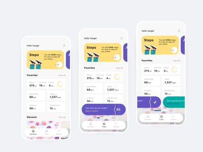Fitness App product design health fitness mobile app ui design 2020