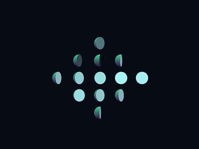 Semi Circle geometry shapes ui design loading dark semicircle circle animation