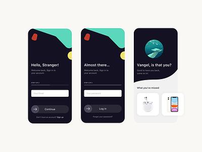 Mobile App - Login register signup login mobile mobile app design mobile app 2020 ui app interface ux