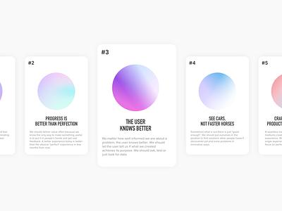 Design Values design principles design values values quotes cards 2021 minimal ui gradient design
