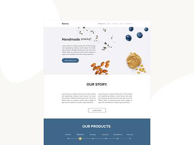 Handmade snacks site design minimal website design website web ux ui interface 2019