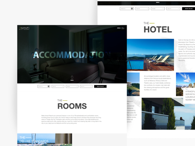 Hotel Ananti City Resort website design minimal black  white website web ux ui interface 2019