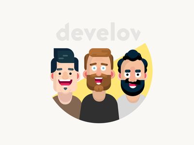 Develov characters 2020 characters character flat illustration flat illustration minimal ui design