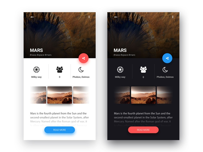 Daily UI #10 galaxy planets space x musk elon space mars daily ui ui daily