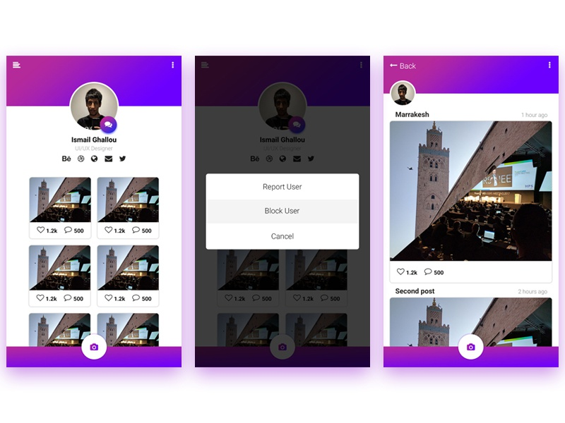 Daily UI #11 photography pictures profile daily ui ui daily