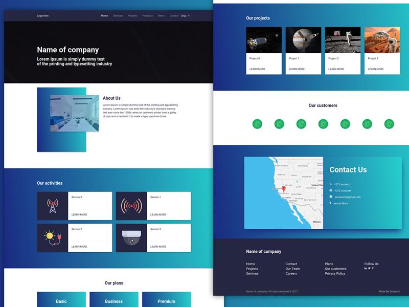 One page UI website portfolio onepage ui