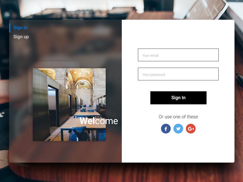 Fluent Design Sign in | Daily UI #15 fluent design signup signin form fluent design