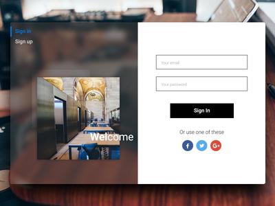 Fluent Design Sign in | Daily UI #15