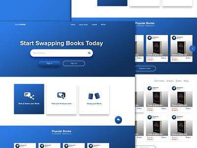Swap Books | Daily UI #18 book books website swap onepage ui