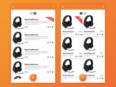 Daily UI 20 ux app razer shop e-commerce ui