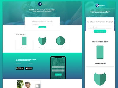 Remitnow.ae Landing Page frontend code ui material landing page