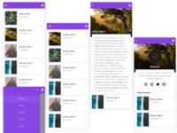 Daily UI 24 - Articles App app design adobexd ux daily 100 ui daily