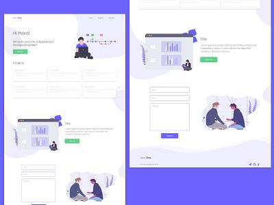 Portfolio for developers illustration daily ui daily design ui portfolio