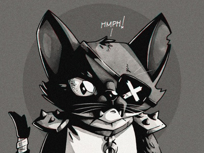 Hmph! 😾 graphic design artwork graphic art photoshop design illustration scifi cadet warrior space kitty cat