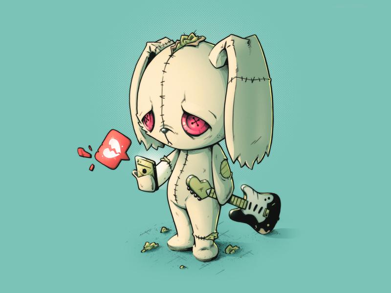 Home Alone - Gram 🐰 cute minimalist album cover music gram instagram emo sad bunny teddy mascot character character design photoshop graphic design artwork graphic art design illustration
