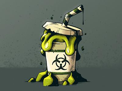 Goo-Slushie 🤢🥤 vector madeinaffinity radioactive zombie slime goop goo milkshake slushie graphic design artwork photoshop graphic art design texture illustration