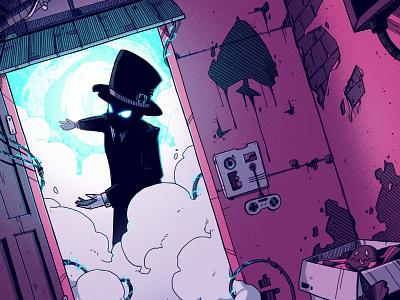 Pips Meadery - Code 👾 sci-fi magician gaming games video games retro pips meadery poster dark digital art graphic design artwork graphic art design texture illustration
