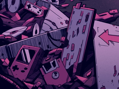 Code - Close Ups 👾 behance pink magician magic gaming retro games video games cyberpunk science fiction sci-fi dark digital art graphic design artwork photoshop graphic art design texture illustration