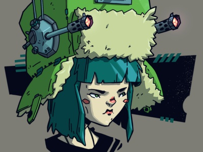 Battle Hats ⚔️ guns concepts military woman girl character character design concept art sci-fi digital art graphic design artwork photoshop graphic art design texture illustration