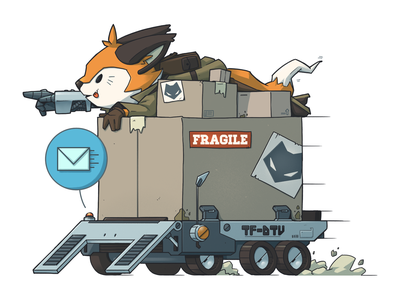 Techfox Mascot and Spot Illustrations 🦊🔧 spot illustration cyberpunk mechanic fox character brand mascot character design branding sci-fi digital art graphic design artwork graphic art design illustration