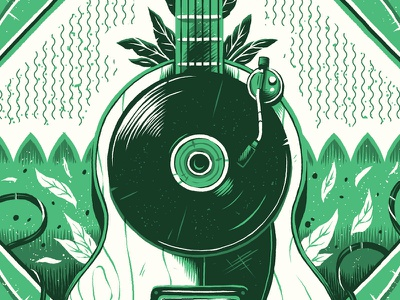 """Indie"" photoshop texture emblem graphic graphic design badge theory illustration genre music"