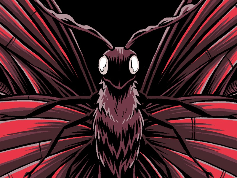 """""""Butterfly"""" merch apparel t-shirt graphic design work in progress wip illustration bug insect butterfly"""