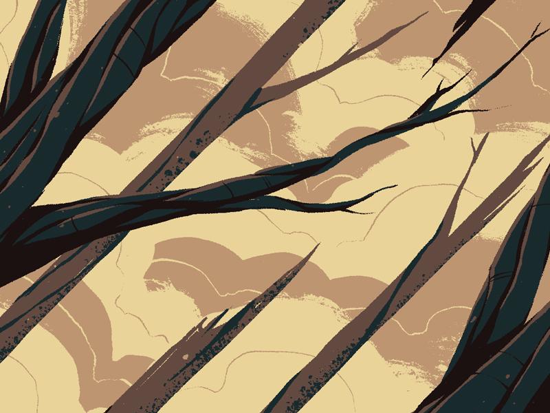 """Trees"" art illustration digital art graphic design photoshop texture crop clouds trees"