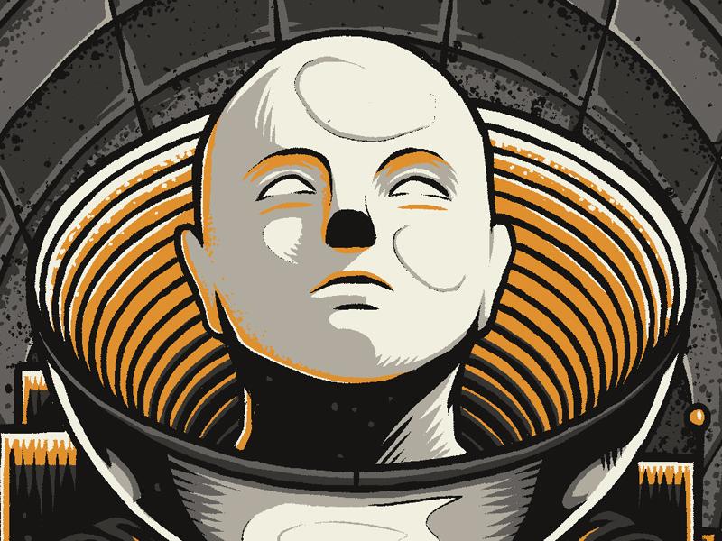 """Astro"" label beer design graphic illustration photoshop texture alien detail space astronaut face"
