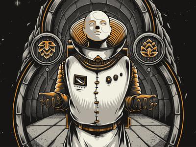 """Eighth Merchant"" alien intergalactic photoshop design art illustration craft beer beer science fiction space astronaut"