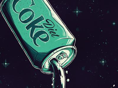 """DevOps Culture Magazine"" coca cola coke diet stars infinity technology sci fi space culture devops magazine editorial artwork art graphic design graphic design photoshop texture illustration"