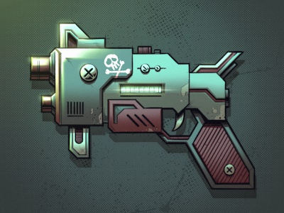 Space Blaster sci-fi pistol gun blaster concept art concept design graphic design artwork graphic art design texture illustration
