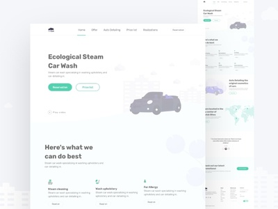Car wash and cleaning landing page