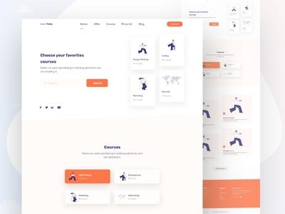 Online courses landing page design