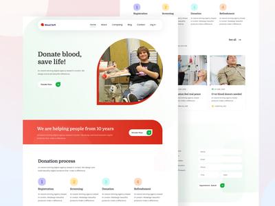 Blood donate landing page design