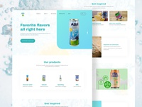 Drinks product landing page