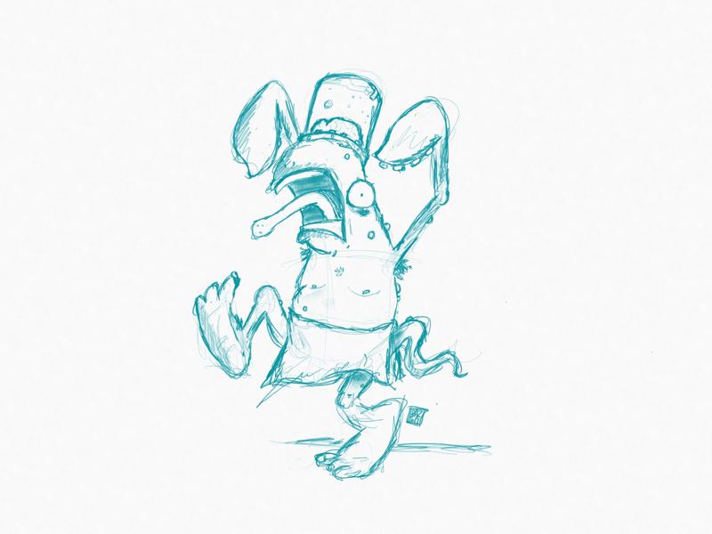 Elvis. monster wip working sketches work in progress sketch character design