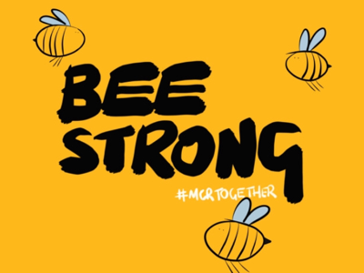 Bee Strong charity tshirt bee manchester