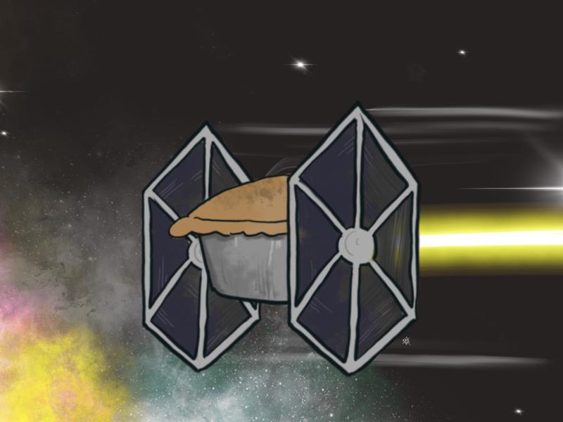 Pie Fighter pixelmator sith space doodle star wars