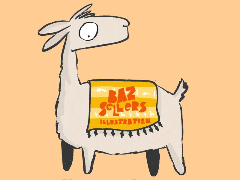 New Llogo. text design logo narwhal llama